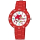 Sanrio三麗鷗 數字轉圈系列手錶My Melody美樂蒂34mm紅色 product thumbnail 1