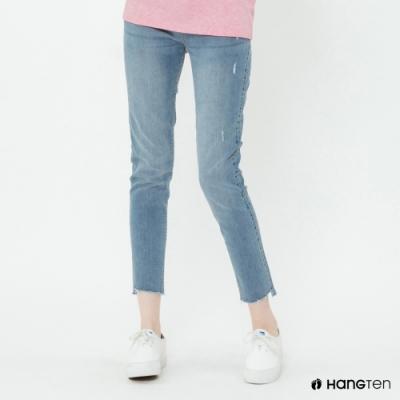 Hang Ten - 女裝 - 微刷破造型牛仔褲 - 藍