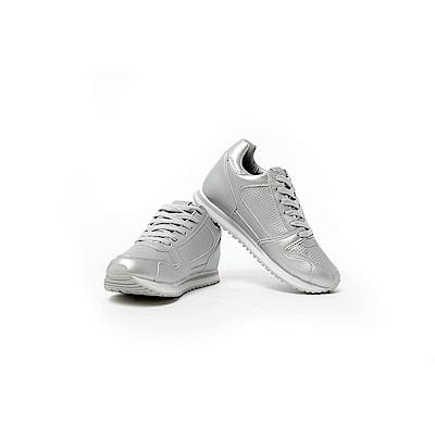 【TOPGIRL】舒適增高運動休閒鞋-金屬銀