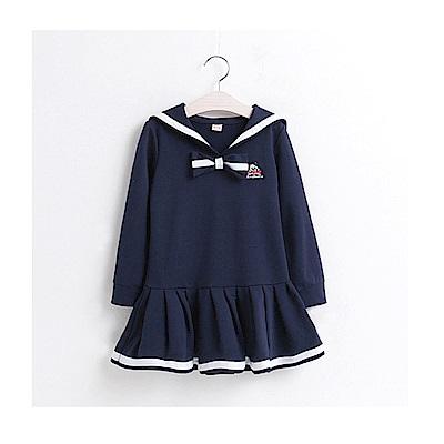 【韓品童裝】女童 中小童韓版小海軍連身裙