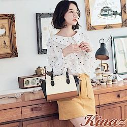 KINAZ 天使之鈴兩用斜背包-焦糖棕-可麗露系列