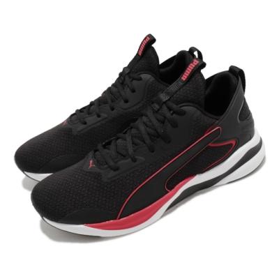 Puma 慢跑鞋 Softride Rift Tech 男鞋 輕量 舒適 穩定 避震 健身 球鞋 黑 紅 19373701