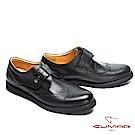 CUMAR英倫紳士 經典簡約舒適皮鞋-黑