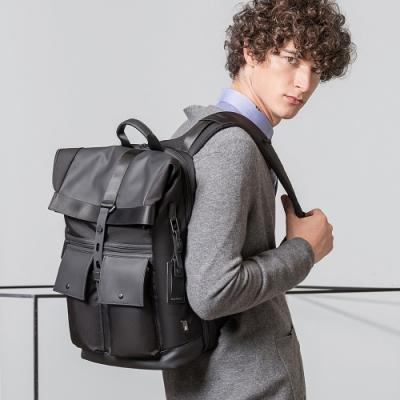 leaper潮酷雙口袋休閒多功能後背包 共3色