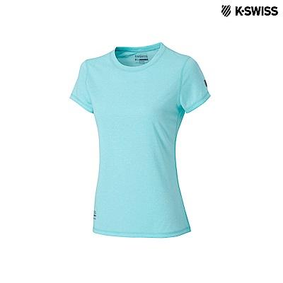 K-Swiss Coverseam Panel Tee排汗T恤-女-綠