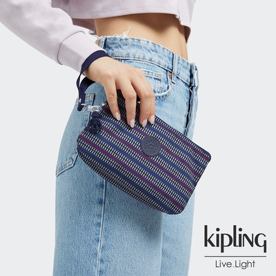 Kipling 圖騰拼接印花多層配件包-CREATIVITY XL