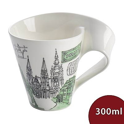 Villeroy & Boch 唯寶 城市波浪馬克杯-布拉格(300ml)