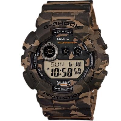 G-SHOCK潮流炫風 叢林迷彩戰鬥魂軍風休閒錶(GD-120CM-5)-叢林棕/51.2mm