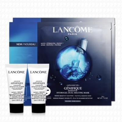 * 蘭蔻 超進化肌因雙效安瓶面膜34g x2 超未來肌因賦活露5mlx2