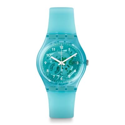 Swatch 原創系列手錶 MINT FLAVOUR 清涼薄荷-34mm