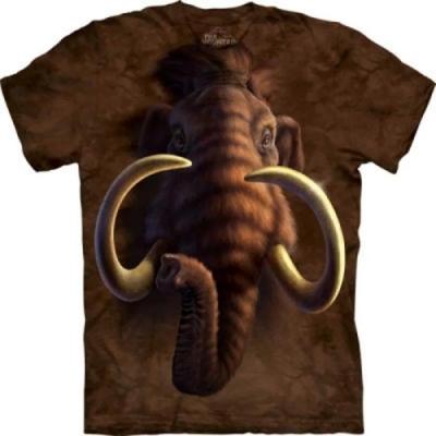 摩達客-美國進口The Mountain 自然純棉系列 長毛象頭 純棉環保藝術中性短袖T恤(現貨)