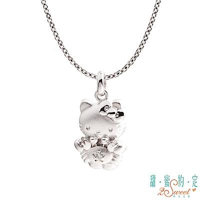 甜蜜約定 HelloKitty 巨蟹座Kitty純銀墜子 送項鍊
