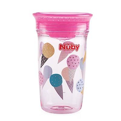 Nuby 晶透360度喝水杯300ml_粉冰淇淋(12M+)