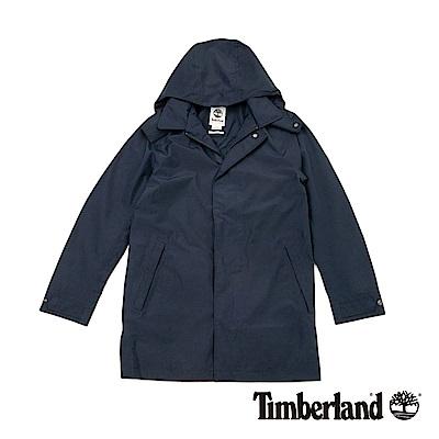 Timberland 男款深藍色長款風衣外套 | A 1 LVJ 433