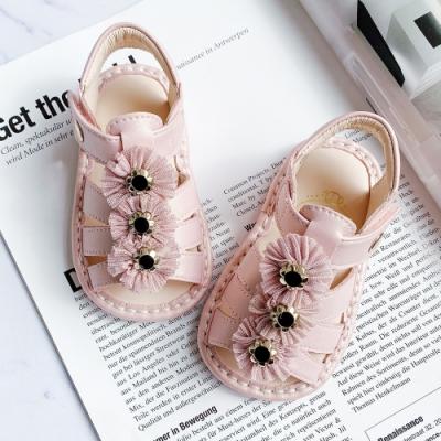 Swan天鵝童鞋-三朵小花寶寶涼鞋1594-粉