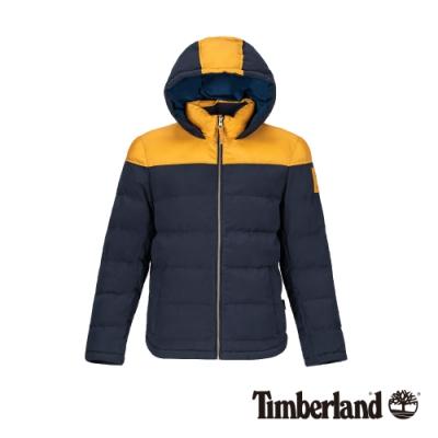 Timberland 男款深藍撞色鋪棉連帽外套|A21EX
