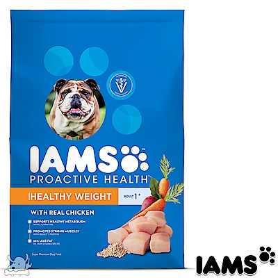 IAMS 愛慕思 健康優活 體重控制 雞肉 成犬糧 7磅