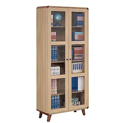 H&D 柏克2.67尺隔板書櫃