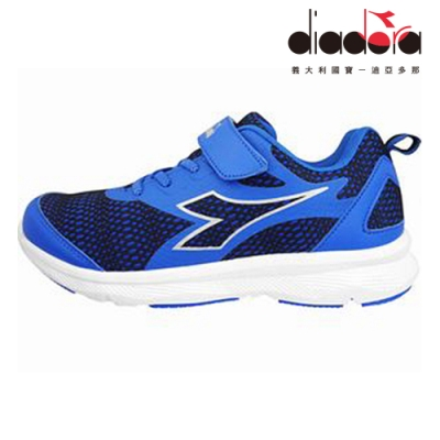 Diadora 兒童慢跑鞋 大童 加寬楦 藍 DA9AKR7206