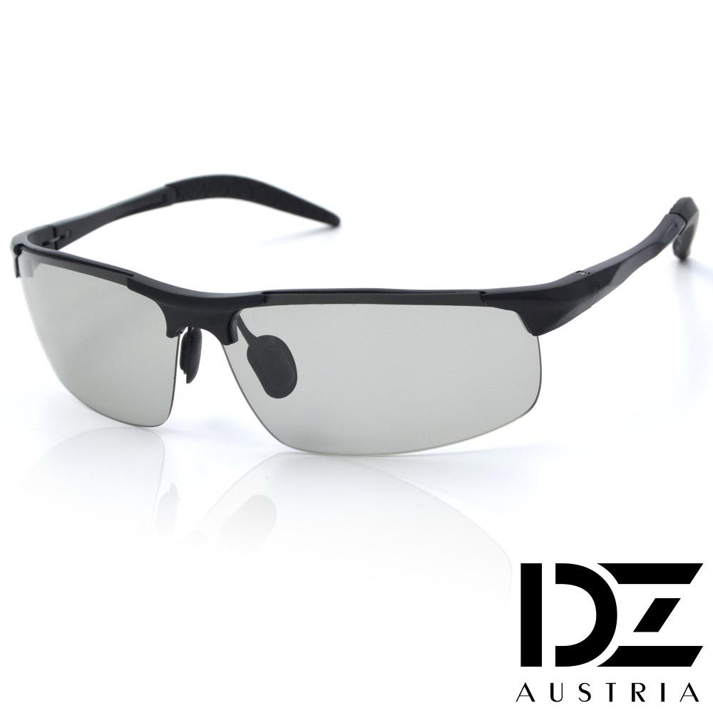 【2件59折】DZ 競速狂潮變色片 抗UV 偏光 太陽眼鏡墨鏡(黑框)