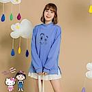 台灣製造~KITTYx小丸子小高領內刷毛上衣-OB大尺碼