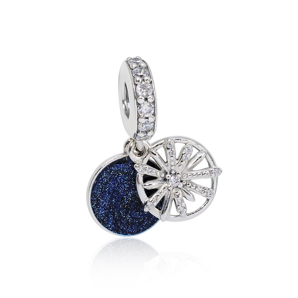 Pandora 潘朵拉 燦爛的願望鑲鋯琺瑯 垂墜純銀墜飾