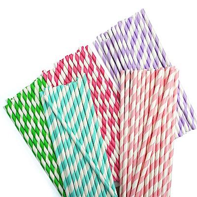 環保可分解樂享紙吸管(2包) 顏色隨機出貨