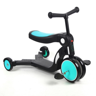 BabyBabe 三合一平衡三輪車(滑板車、滑步車)-三色可選