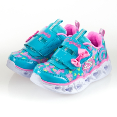 SKECHERS 女嬰童系列 燈鞋 HEART LIGHTS-20264NTQPK