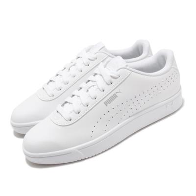 Puma 休閒鞋 Court Pure 運動 男女鞋 基本款 簡約 皮革 情侶穿搭 小白鞋 白 銀 37476601