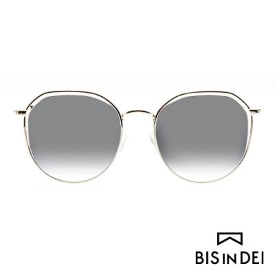 BIS IN DEI 簡約中性鏤空框太陽眼鏡-銀