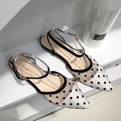 KEITH-WILL時尚鞋館 冬氛懶人小尖頭涼鞋 白