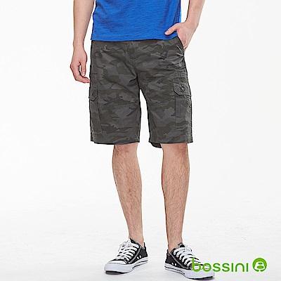 bossini男裝-迷彩口袋休閒短褲01灰
