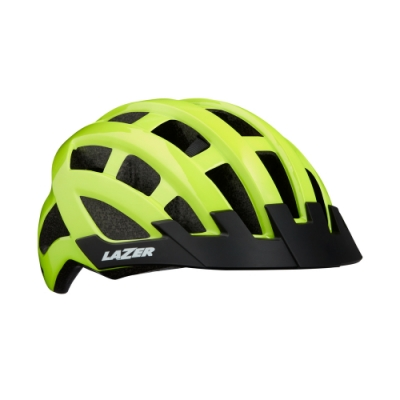 【LAZER】COMPACT 自行車安全帽 亮黃