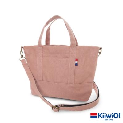 Kiiwi O! 輕便隨行系列2way帆布托特包 ANNIE 乾燥玫瑰粉