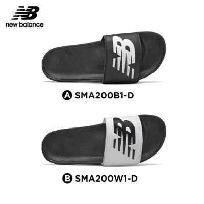 【時時樂限定】New Balance涼拖鞋_中性_黑色/白色