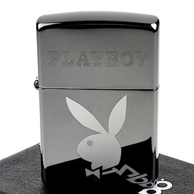ZIPPO 美系~PLAYBOY-班尼兔圖案雙重雕刻設計打火機