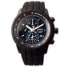 SEIKO 自我極限鬧鈴賽車錶-黑x藍(SNAD87P1)45mm