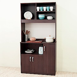 《HOPMA》DIY巧收高廚房櫃-寬91 x深40 x高180cm