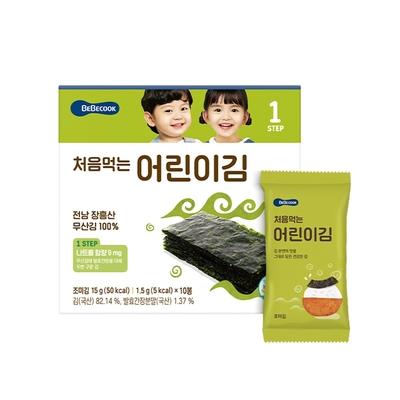 韓國 【BEBECOOK】 幼兒海苔(原味)