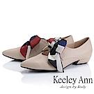 Keeley Ann慵懶盛夏 甜美緞帶尖頭瑪莉珍鞋(杏色)