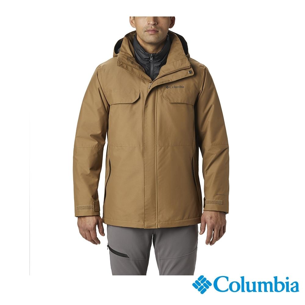 Columbia 哥倫比亞 男款- Omni TECH防水鋁點保暖外套-棕色