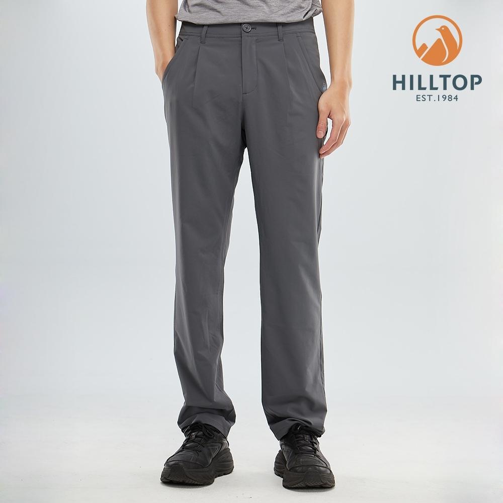 【hilltop山頂鳥】男款吸濕快乾彈性涼感長褲S07MC7深灰