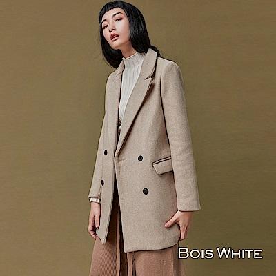 Bois White-雙排釦短版西裝外套-杏/綠/黑