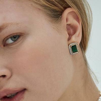 NOONOO FINGER VINTAGE GREEN EARRINGS 耳環