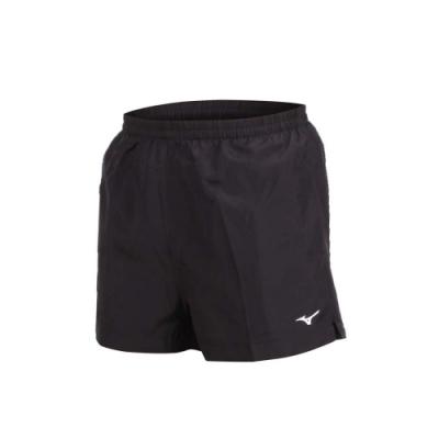 MIZUNO 男路跑短褲-慢跑 健身 訓練 三分褲 美津濃 黑白