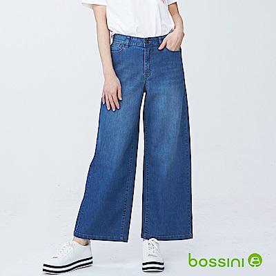 bossini女裝-舒適牛仔寬褲01淡靛藍