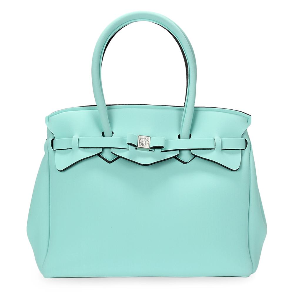 SAVE MY BAG Miss系列簡約輕量防水托特包-湖水綠