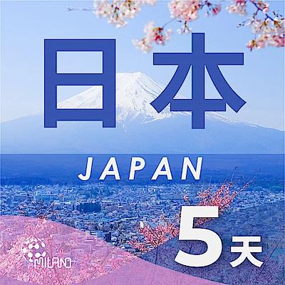 【PEKO】日本上網卡 5日高速4G上網 無限量吃到飽 優良品質高評價 快速到貨