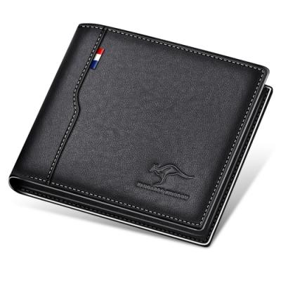 PUSH!精品新款防盜刷頭層牛皮真皮件橫款錢包卡包錢夾皮夾短款 PUSH30